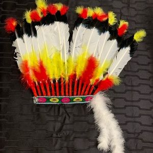 Halloween Indian feathers hat